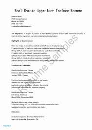 Real Estate Appraiser Resume Examples Real Estate Resume Sample New