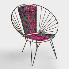 Woven metal furniture Bench V1 World Market Metal Woven Chindi Chair World Market