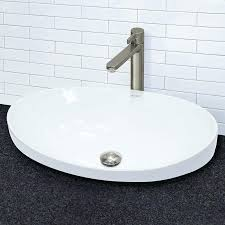 semi recessed bathroom sink classically redefined ceramic oval vessel bathroom sink with overflow square semi recessed semi recessed bathroom sink