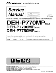 pioneer deh p770mp wiring diagram pioneer automotive wiring diagrams pioneer deh p7700mp p7750mp 1 pioneer deh p mp wiring diagram pioneer deh p7700mp p7750mp 1