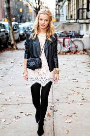white lace and leather jacket