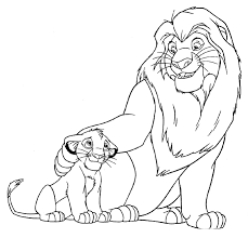 Small Picture Lion King Simba Coloring Pages lion king coloring pages 4 lion