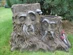 Деревянные фигурки на даче своими руками
