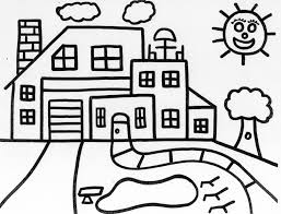 Small Picture House Coloring Pages Printable Archives With Coloring Pages House