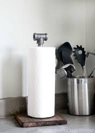Industrial Paper Towel Holder Tutorial DIY Crafts Pinterest Adorable Bathroom Towel Dispenser Concept