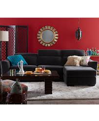 Macys Living Room Furniture Alessandro Fabric Power Sectional Sofa Living Room Furniture