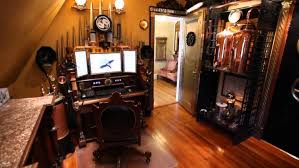steampunk office. Apartments Steampunk House Youtube Industrial Interior Design On A Budgetsteampunk Office