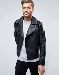 only sons biker jacket in faux leather