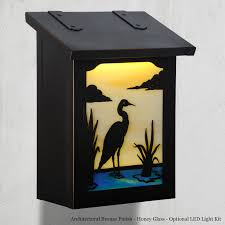 Vertical wall mount mailbox Large Modern Wall Mount Mailbox American Made Blue Heron Style Vertical Nautical Bird Mailbox Home Depot Blue Heron Vertical Wall Mount Mailbox Americas Finest Mailbox Co
