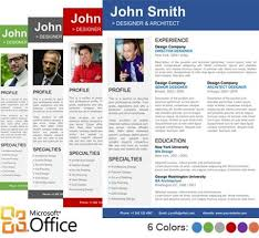 Microsoft Publisher Resume Template