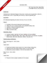 mechanical student resume. engineering ...