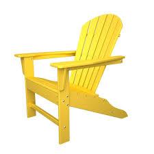polywood south beach lemon plastic patio adirondack chair