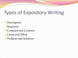 several different kinds ppt  types of expository writing