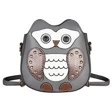 women pu leather backpack mai yi las owl cartoon backpack casual satchel school purse for students
