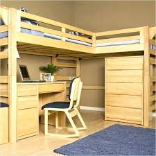 loft bunk bed with desk wooden combo trundle chest and closet full size