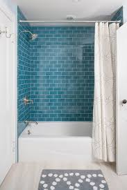 house in rye contemporarybathroom blue shower tile33 shower