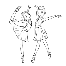Leap! (Ballerina) - Coloring pages for kids