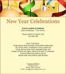 Red New Year Celebration Invitation Template Simple Celebration
