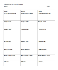 6 Commercial Storyboard Templates Doc Pdf Free