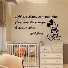 Mickey Mouse Wallpaper For Bedroom Mickey Mouse Wall Decals Quote Dreams Art Vinyl Sticker Kids