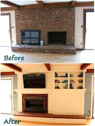 clean fireplace brick with dawn update remodel vinegar soot