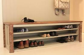 mudroom bench shoe storage plans