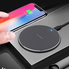 10W Sạc Không Dây QI Cho iPhone 12PRO 11 XR 8 Đèn LED Báo Sạc Nhanh Không  Dây Miếng Lót Cho Xiaomi Samsung s10 Plus S9 S10 S8 Sạc không dây