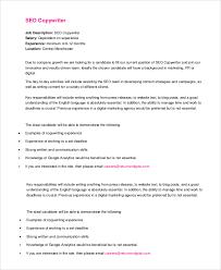 seo copywriter job description copywriter job description