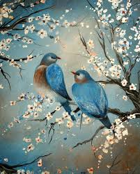 saatchi art artist megan morris painting animal print birds love birds