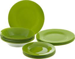 """Набор <b>тарелок Pasabahce</b> """"<b>Green</b> Village"""", цвет: зеленый, 18 шт ..."""