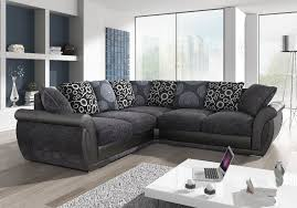 brand new shannon leather fabric corner sofa with extras in black grey or brown