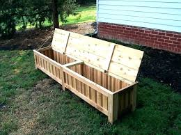 deck boxes with seats outdoor planter box