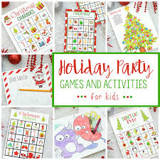 Printable Kids Free Printable Holiday Party Games For Kids Fun Squared