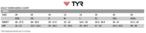 Tyr Size Chart Tyr Challenger Trunk Zappos Com
