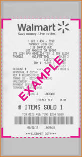 Nutemplates - Receipt Receipts Walmart Template