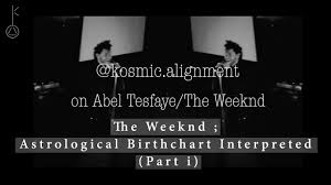 The Weeknd Astrological Birthchart Interpreted Part I