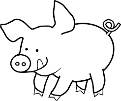 Small Picture Happy Pig Coloring Page Wecoloringpage