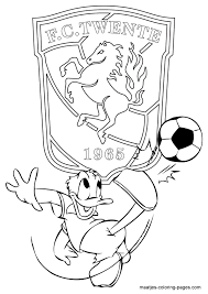 Fc Twente Kleurplaten Nl Voetbal Kleurplaten Eredivisie Clubs