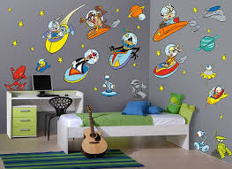 looney tunes outer space wall r art exhibition space wall