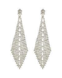 earrings crystal oversized chandelier earring gold 15145