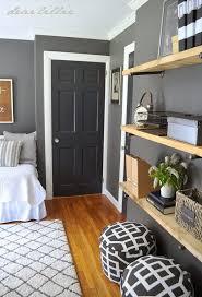 similar color scheme in my home dark gray walls white trim love rh black