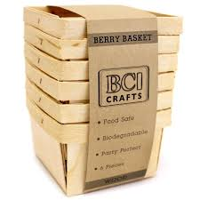 bci crafts brand wood berry baskets information organize your craft studio display party food or use as cute little gift bo