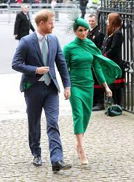 Prince Harry & Meghan Markle Matched at the Commonwealth Day Service