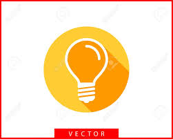 Led Light Logo Light Bulb Icon Vector Llightbulb Idea Logo Concept Lamp Electricity