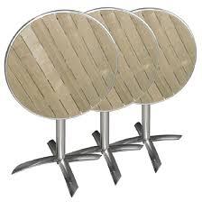 Table de bistro ronde, carrée ou rectangulaire