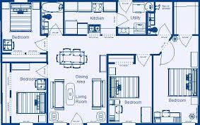 4 bedroom floor plans. Pleasant Design 11 4 Bedroom House Plans Blueprints Building Floor O