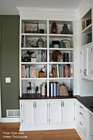 home office in dining room. DIY Home Office Built-in Bookshelves Left Side View In Dining Room N