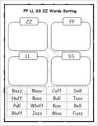 We encourage you to work with this section on a daily basis. Ff Ll Ss Zz Phonics Words Sorting Worksheet Englishbix