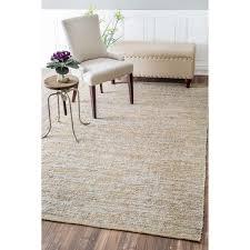 jute rug 5 8 nuloom casual handmade jute solid silver rug 7 6 x 9 6