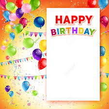 Happy Birthday Background Images Holiday Template For Design Banner Ticket Leaflet Card Poster
